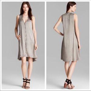 Modern V-Neck %100 Silk Dress